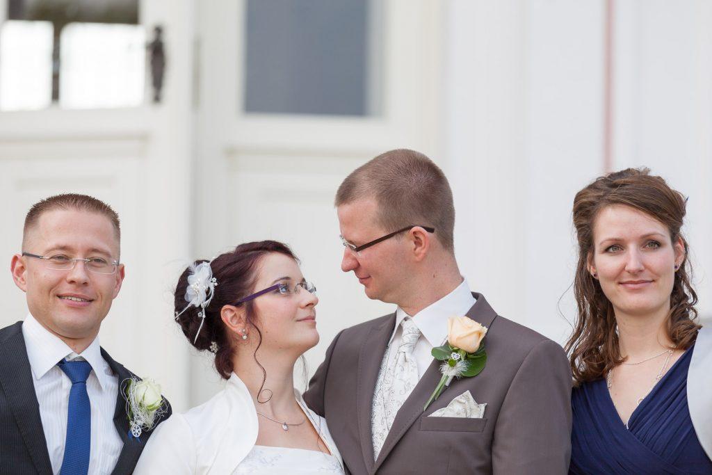 heiraten auf Schloss Friedrichsfelde Gruppenfotos
